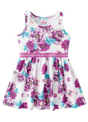 72a113005123db Vestido Floral Menina Brandili Bege