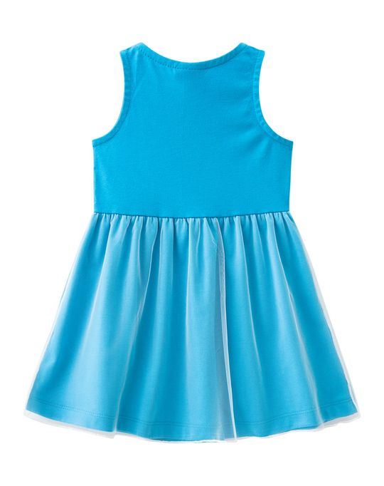 a2b5b468b2d1f1 Vestido Infantil Princesas Menina Azul Brandili