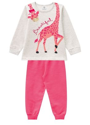 Pijama_Girafa_Brandili_Cinza