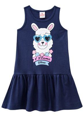 Vestido-Lhama-Menina-Brandili-Azul