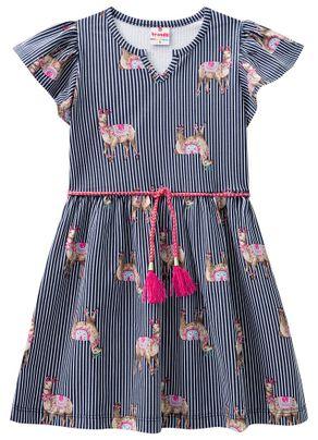 Vestido-Lhamas-Menina-Brandili-Azul