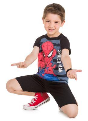 Camiseta-Homem-Aranha-Menino-Brandili-Preta