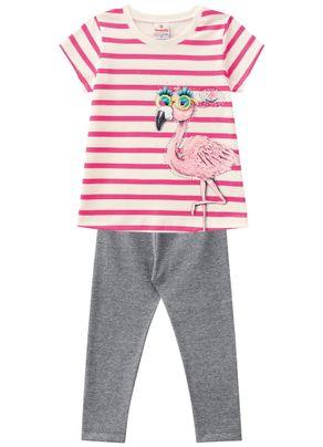 Conjunto-Flamingo-Menina-Brandili-Rosa