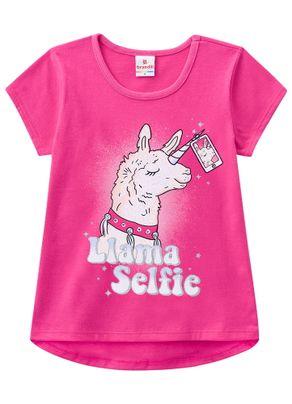 Blusa-Selfie-Lhama-Menina-Brandili-Rosa