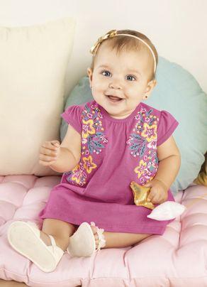 Vestido-Floral-Menina-Brandili-Baby-Rosa