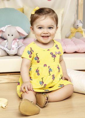 Vestido-Flamingos-Menina-Brandili-Baby-Amarelo