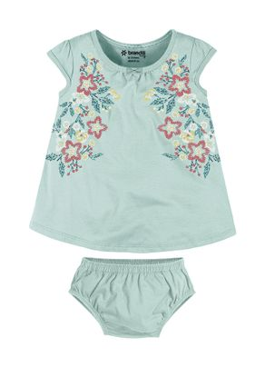 Vestido-Floral-Menina-Brandili-Baby-Verde