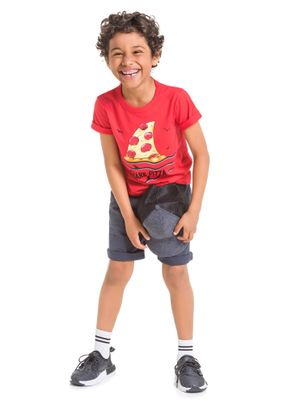 Camiseta-Tubarao-Pizza-Menino-Brandili-Vermelha
