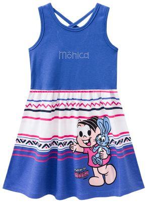Vestido-Turma-da-Monica-Menina-Brandili-Azul