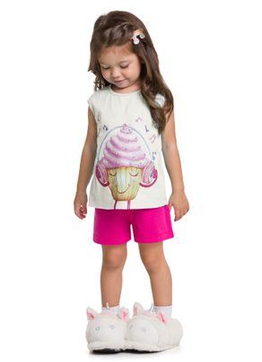 Pijama-Curto-Infantil-Menina-Brandili-Bege---1