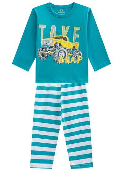 Pijama-infantil-menino-em-malha-listrado-Brandili-Azul---1