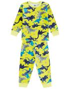 Pijama-infantil-menino-em-malha-com-estampa-Dino-Brandili-Verde