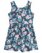 Vestido-infantil-em-malha-floral-Brandili