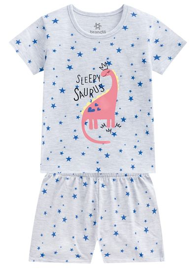 Pijama-infantil-menina-em-malha-dino-Brandili
