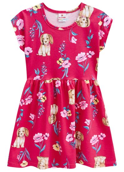 Vestido-infantil-floral-cachorro-Brandili