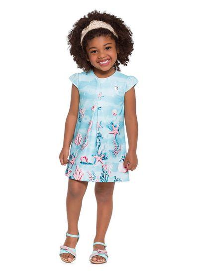 Vestido-Infantil-em-Malha-Estrela-do-Mar-Mundi