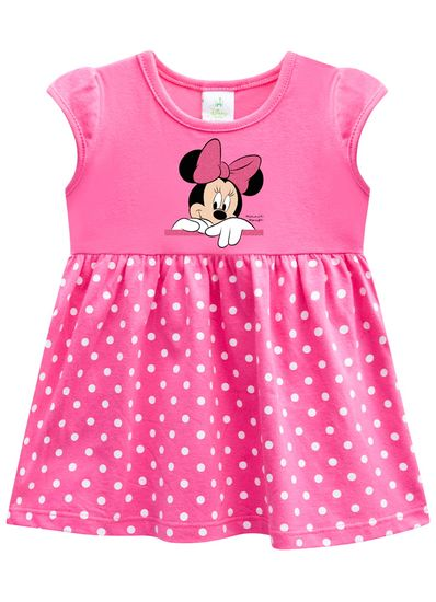 Vestido-bebe-em-malha-Minnie-poa-Brandili-Baby