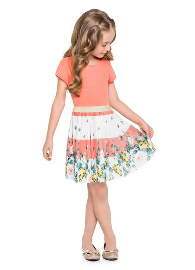 Vestido-infantil-em-cotton-tule-plissado-Mundi