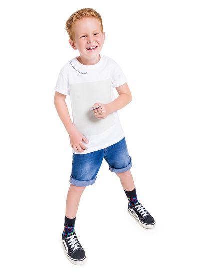 Camiseta-Infantil-Unissex-Em-Malha-Com-Estampa-Interativa-Brandili-345980001