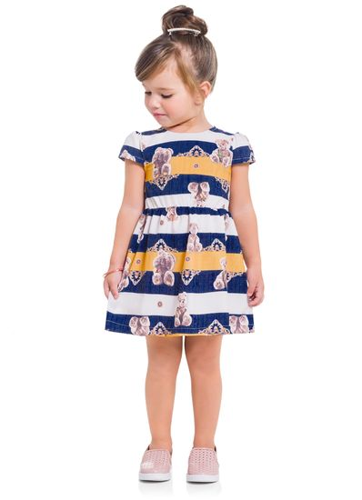 Vestido-Infantil-Menina-Estampado-Em-Tecido-Mundi