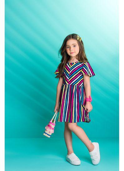 Vestido-infantil-listrado-em-malha-estampada-Brandili---1