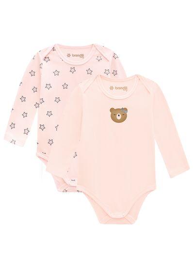 Kit-bodies-bebe-menina-em-malha-cotton-Brandili-Baby