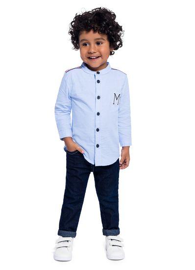 Camisa-infatil-menino-em-tecido-oxford-Mundi