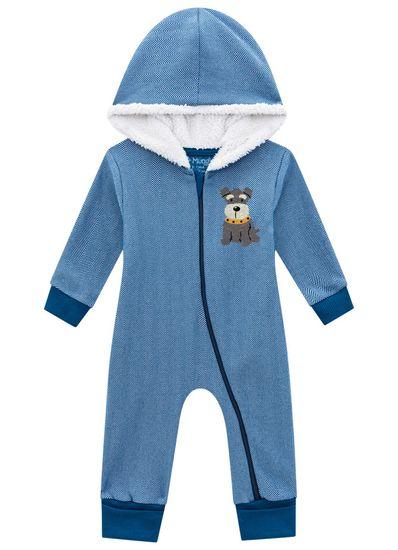 Macacao-bebe-menino-em-moletom-Mundi-Baby