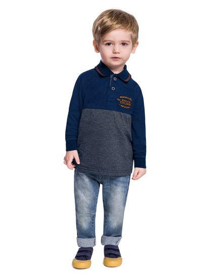 Camiseta-Polo-menino-infantil-em-malha-Mundi