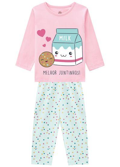 Pijama-infantil-menina-em-malha-com-estampa-colorida-em-puff-com-detalhes-em-glitter-Brandili