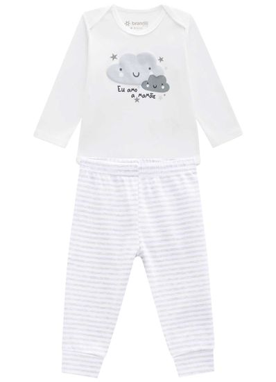 Conjunto-body-unissex-em-malha-cotton-Brandili-Baby