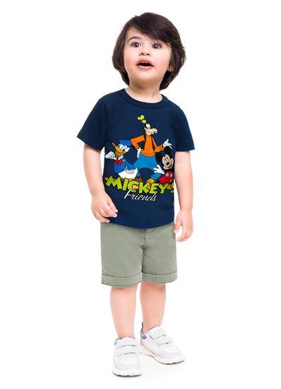 Camiseta-infantil-menino-de-malha-com-estampa-do-Mickey-e-seus-amigos-Brandili