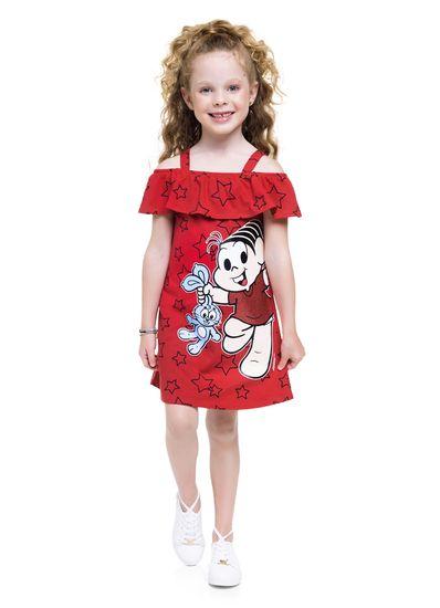 Vestido-infantil-menina-de-malha-no-modelo-ciganinha-com-babado-e-estampa-da-Turma-da-Monica-Brandili