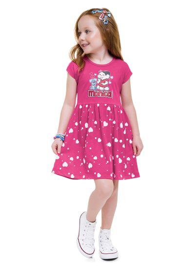 Vestido-infantil-menina-de-malha-com-estampa-da-turma-da-Monica-Brandili