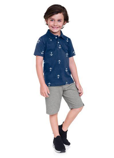 Camisa-polo-Infantil-menino-de-malha-com-estampa-de-ancora-Basicos-Brandili
