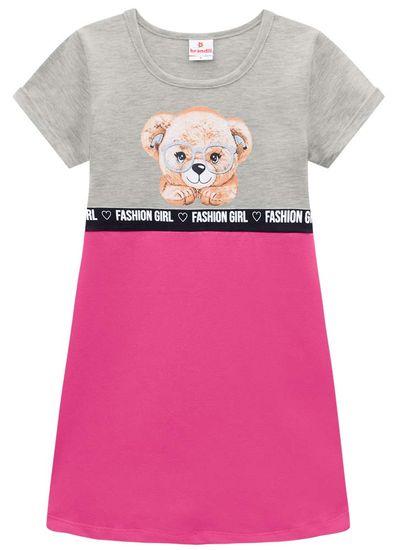 Vestido-infantil-menina-de-Cotton-com-estampa-de-ursinho-Brandili