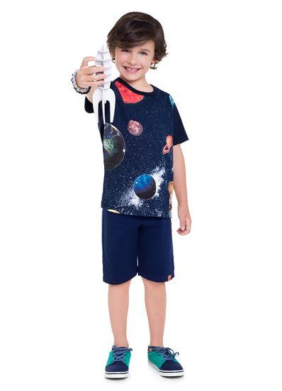 Camiseta-Infantil-Menino-De-Malha-Com-Estampa-De-Planetas---Acompanha-Brinquedo-Montavel-De-Nave-Espacial---Veste-E-Diverte-Brandili