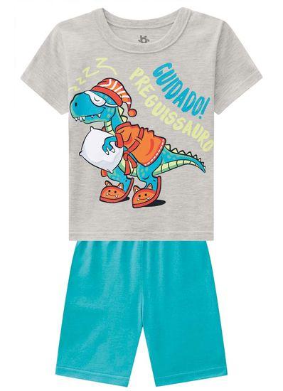 Pijama-Infantil-Menino-De-Malha-Com-Estampa-De--Preguissauro--Hora-De-Dormir-Brandili