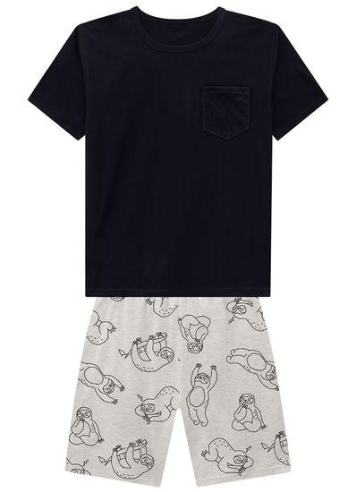 Pijama-Adulto-Masculino-Tal-Pai-Tal-Filho-De-Malha-Com-Estampa-De-Preguicinhas-Hora-De-Dormir-Para-A-Familia-Brandili