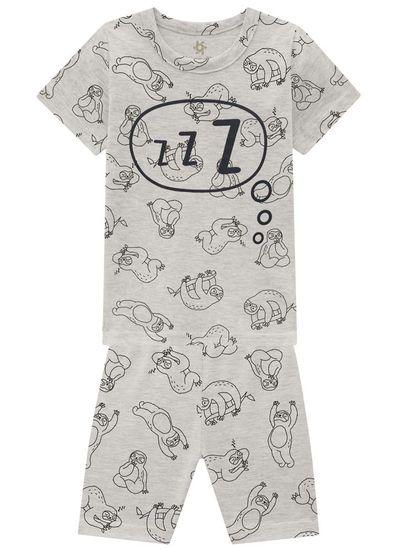 Pijama-Infantil-Menino-Tal-Pai-Tal-Filho-De-Malha-Com-Estampa-De-Preguicinhas-Hora-De-Dormir-Para-A-Familia-Brandili