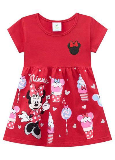 Vestido-Bebe-Menina-De-Malha-Com-Estampa-Da-Minnie-Brandili-Baby