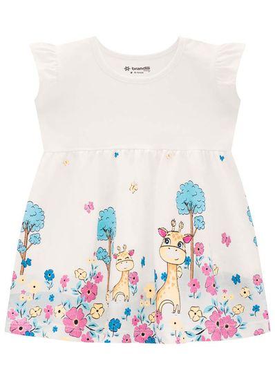 Vestido-Bebe-Menina-De-Malha-Com-Estampa-De-Girafa-Brandili-Baby