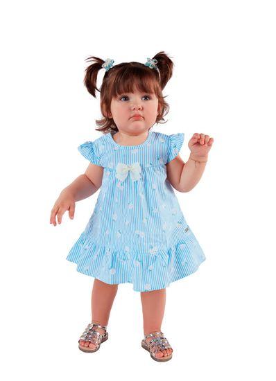 Vestido-Bebe-Menina-De-Tricoline-Com-Estampa-De-Margaridas-Mundi-Baby