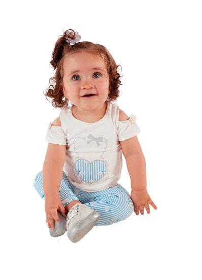 Conjunto-Bebe-Menina-De-Cotton-Com-Estampa-De-Margaridas-Mundi-Baby