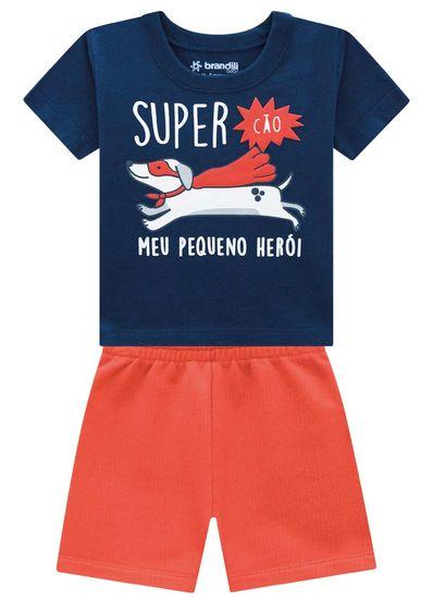 Conjunto-Bebe-Menino-De-Malha-Com-Estampa-De-Cao-Super-Heroi-Brandili-Baby