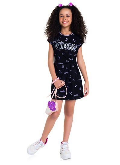 Vestido-Teen-Menina-De-Malha-Com-Estampa-Personalizada-Young-Class