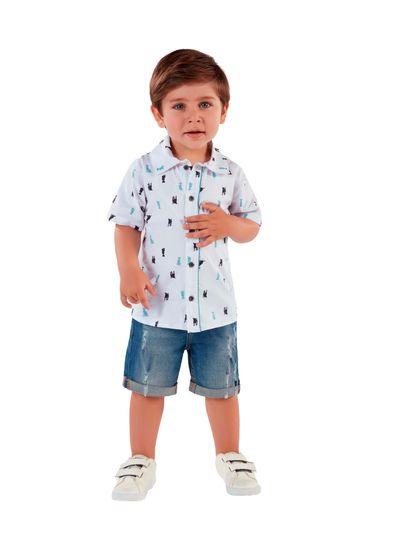 Camisa-Infantil-Menino-De-Tricoline-Com-Estampa-De-Cachorrinhos-Mundi