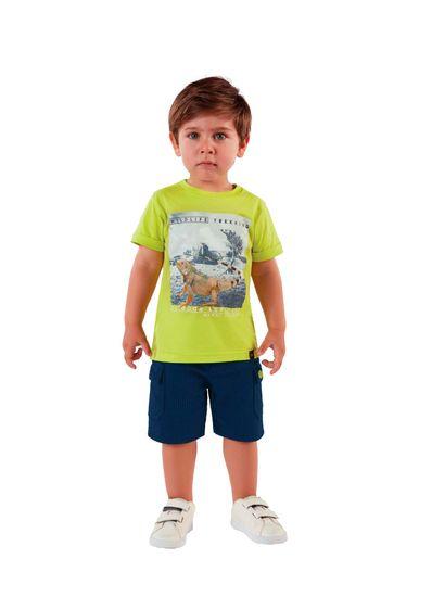 Camiseta-Infantil-Menino-De-Malha-Com-Estampa-Selvagem-Mundi