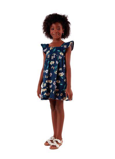 Vestido-Infantil-Menina-De-Cotton-Com-Estampa-De-Flores-Mundi