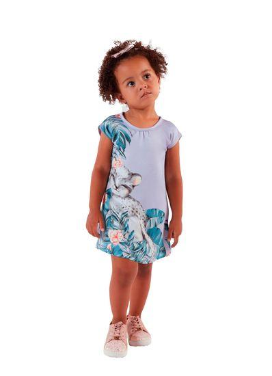 Vestido-Infantil-Menina-De-Malha-Com-Estampa-De-Folhas-Mundi